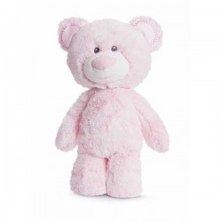"Ourson en peluche rose ""Léa"" à caliner"