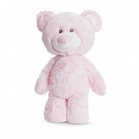 "Huggie Babies Bear Pink Soft Plush ""Lea"""