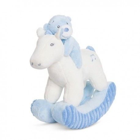 "Bonnie Rocking Horse Blue Soft Plush ""Nico"" with music"