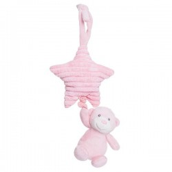 "Pull string musical plush ""Ellie"" pink"