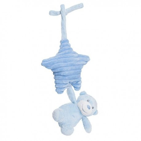 "Pull string musical plush ""Nico"" blue"