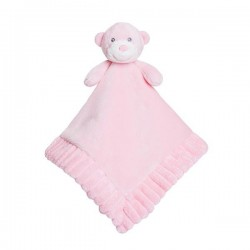 "Doudou plat ourson ""Ellie"" rose"