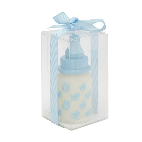 """Candle """"baby bottle"""" blue"""