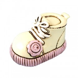 Resin ornamental pink gift boot
