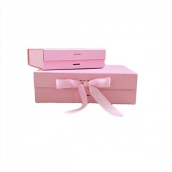 Luxury Gift /Keepsake Box with removable ribbon - Baby Pink
