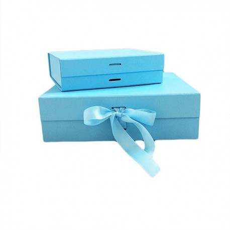 Luxury Gift /Keepsake Box with removable ribbon - Baby Blue