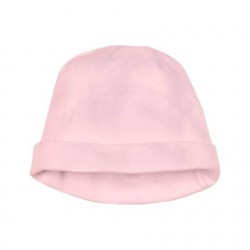 Cotton jersey baby hat in pink