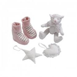 4-delig roze Cadeau set Les Bebes d'Elysea