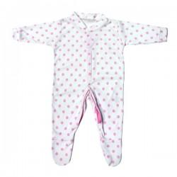 Roze gestipt pyjama