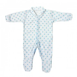 Blue Polka Dot Pattern Cotton Sleepsuit 3-6m