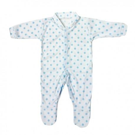 Blue Polka Dot Pattern Cotton Sleepsuit 3-6m