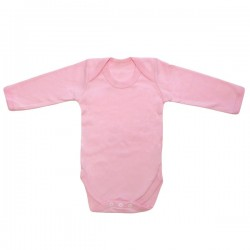 Pink Long Sleeve Bodysuit 3-6m