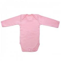 Roze lange mouwen body 3-6 m