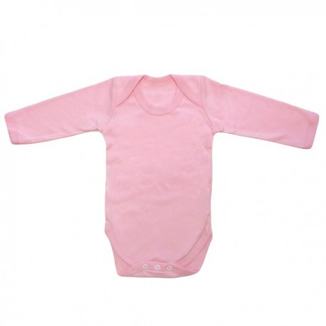 Pink Long Sleeve Bodysuit 3-6m