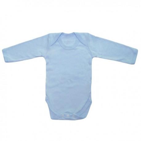 Body bleu à longues manches 3-6 mois