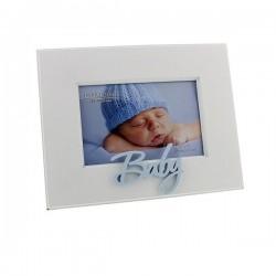 """Cadre photo """"Baby"""" bleu pour photo 10x15 cm"""