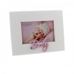 """Baby"" fotokader roze10x15cm"