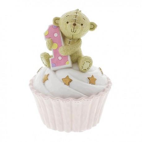 Resin Money Bank Pink 1st Birthday