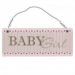 "Plaque rose ""Baby girl"""