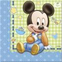"""Serviettes en papier """"Bébé Mickey Mouse"""" x20"""