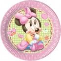 "Kartonnen bordjes ""Baby Minnie Mouse"" x8"