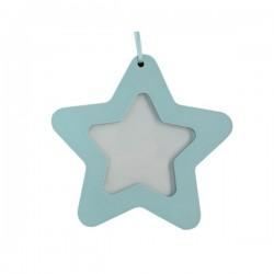 Cadre photo étoile bleu à suspendre