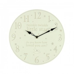 Resin Wall Clock 25cm Twinkle Twinkle