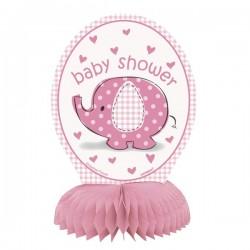Décoration de table éléphant rose pour Baby Shower x4