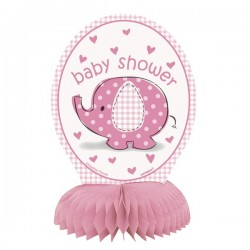 Umbrellaphants pink mini honeycomb decoration x4