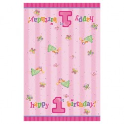 "Tablecover ""1st birthday"" + fairy / butterflies"