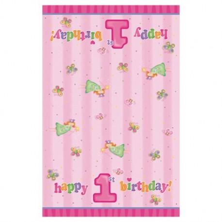 "Tablecover ""1st birthday"" + fairy / butterflies"