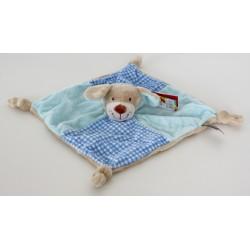 "Comforter dog / puppy ""vichy"" blue"