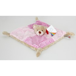 "Comforter bear ""vichy"" pink"