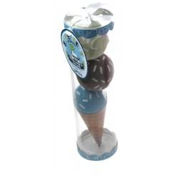 "Cadeauset ""ijsje"" met sokjes blauw"