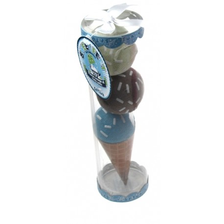 Sweet Feet Baby Gripper Socks in Fab Ice Cream Scoop Pack blue