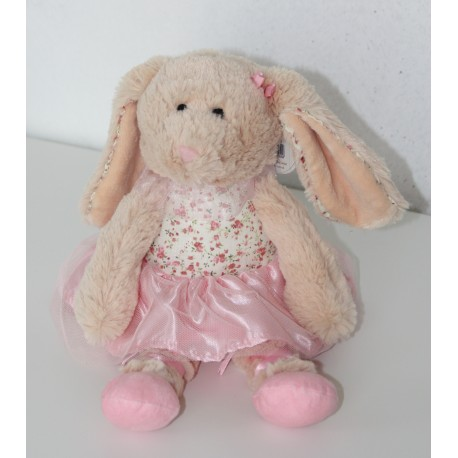 "Belle Rose Ballerina bunny with vintage ditsy dress ""Stephanie"""