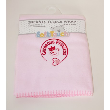"Soft Fleece ""Gorgeous princess"" Blanket"