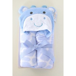 Cute plush little giraffe hooded wrap