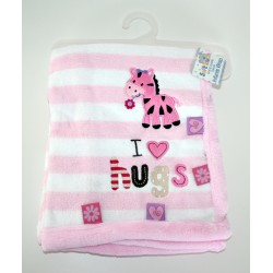 Gorgeous I love hugs fleece blanket pink