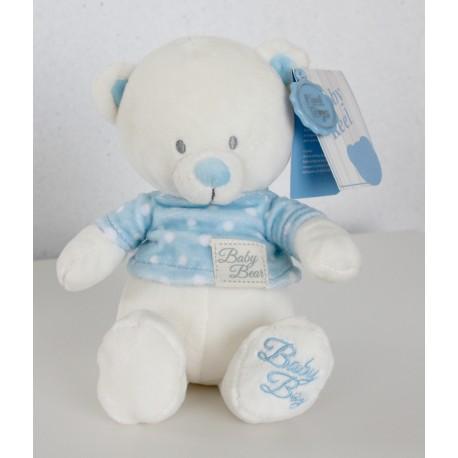 "Petit ourson ""Baby Boy"" avec T-shirt bleu"