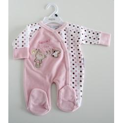 """Pyjama """"beertje"""" roze"""