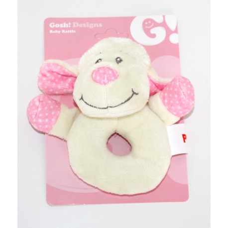 "Rattle ""little lamb"" pink"
