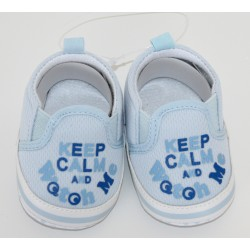 "Petites chaussures ""Keep Calm"" bleues"
