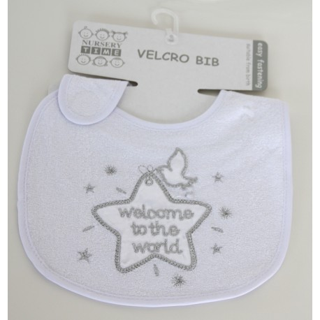 "Bib star design ""Welcome to the world"""