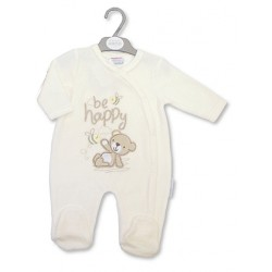 Cute Be Happy velour sleepsuit