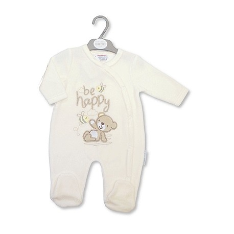 "Pyjama ourson beige ""Be happy"""