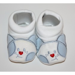 "Chaussons bleus ""chatons"""