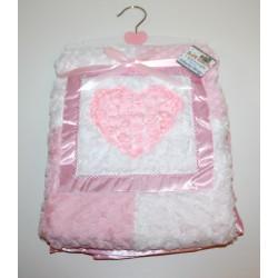"""Magnifique couverture """"Coeur"""" rose"""