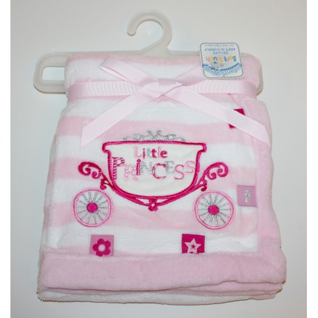 "Couverture carrosse ""Little princess"" rose"