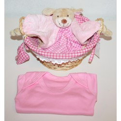 "Birth basket ""vichy"" pink"